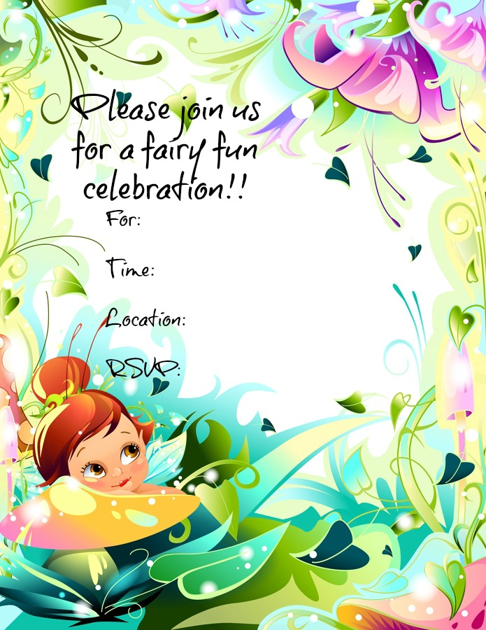 5 Images of Free Printable Fairy Invitations