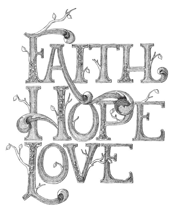 2 Images of Faith Hope And Love Free Printables