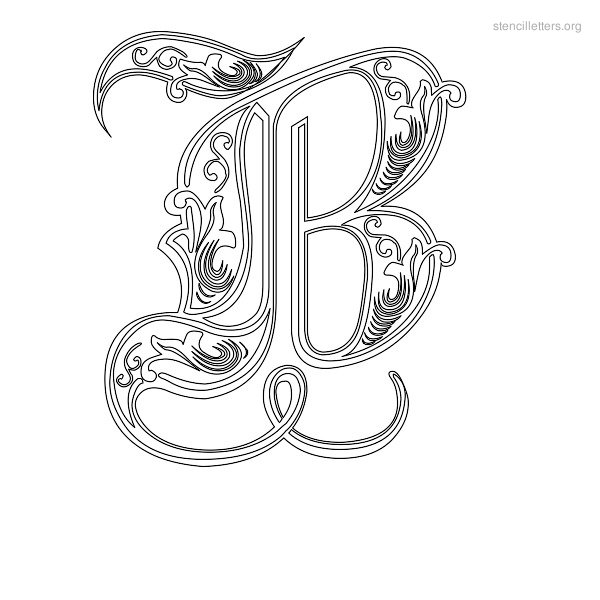 9 best images of fancy printable letter templates free printable stencil letters template