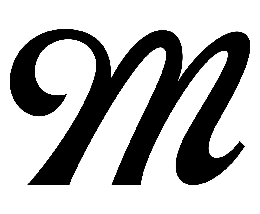 Fancy Letter M Stencil