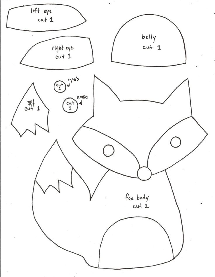 8 Images of Fox Sewing Pattern Printable