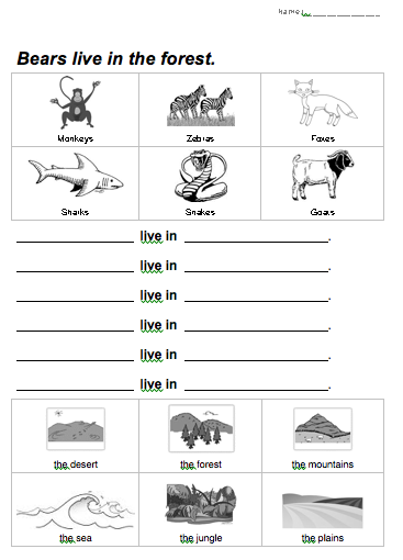 5 Images of Free Printable Habitat Worksheets