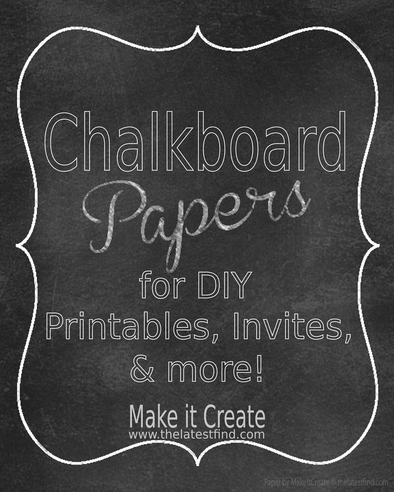 Free Chalkboard Digital Paper