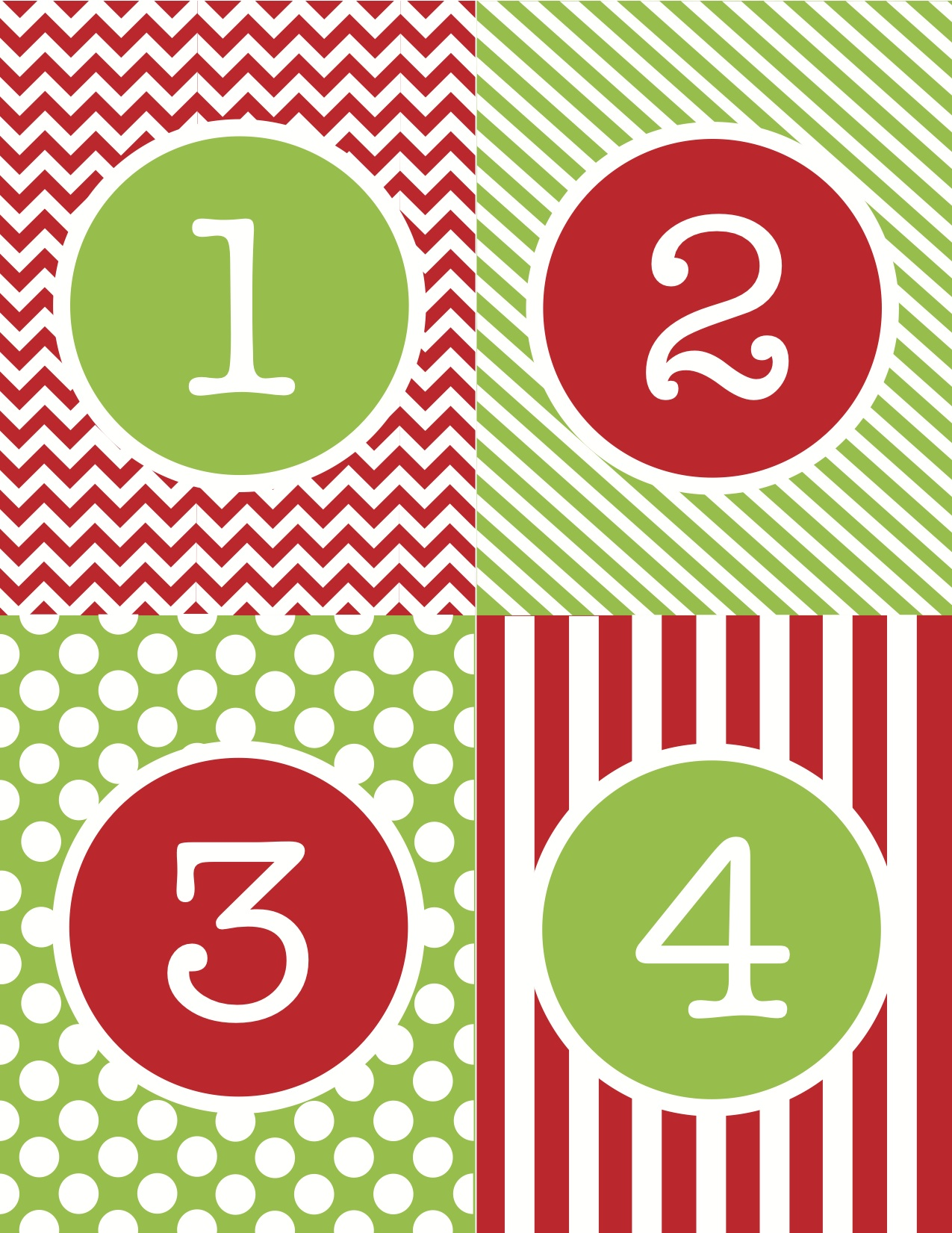 6 Images of Free Printable Christmas Numbers