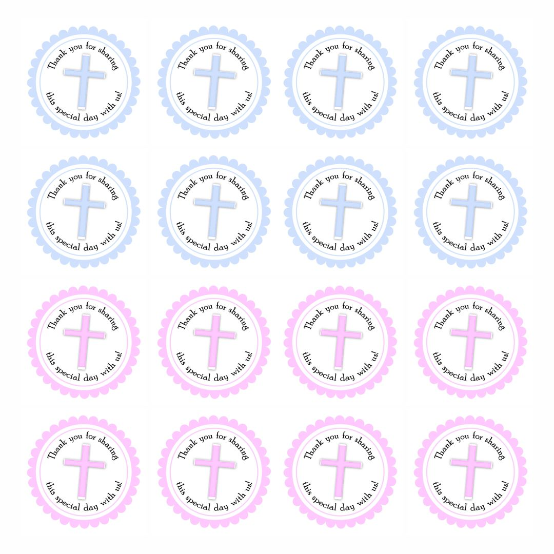 7 Images of Baptism Favor Tags Free Printable