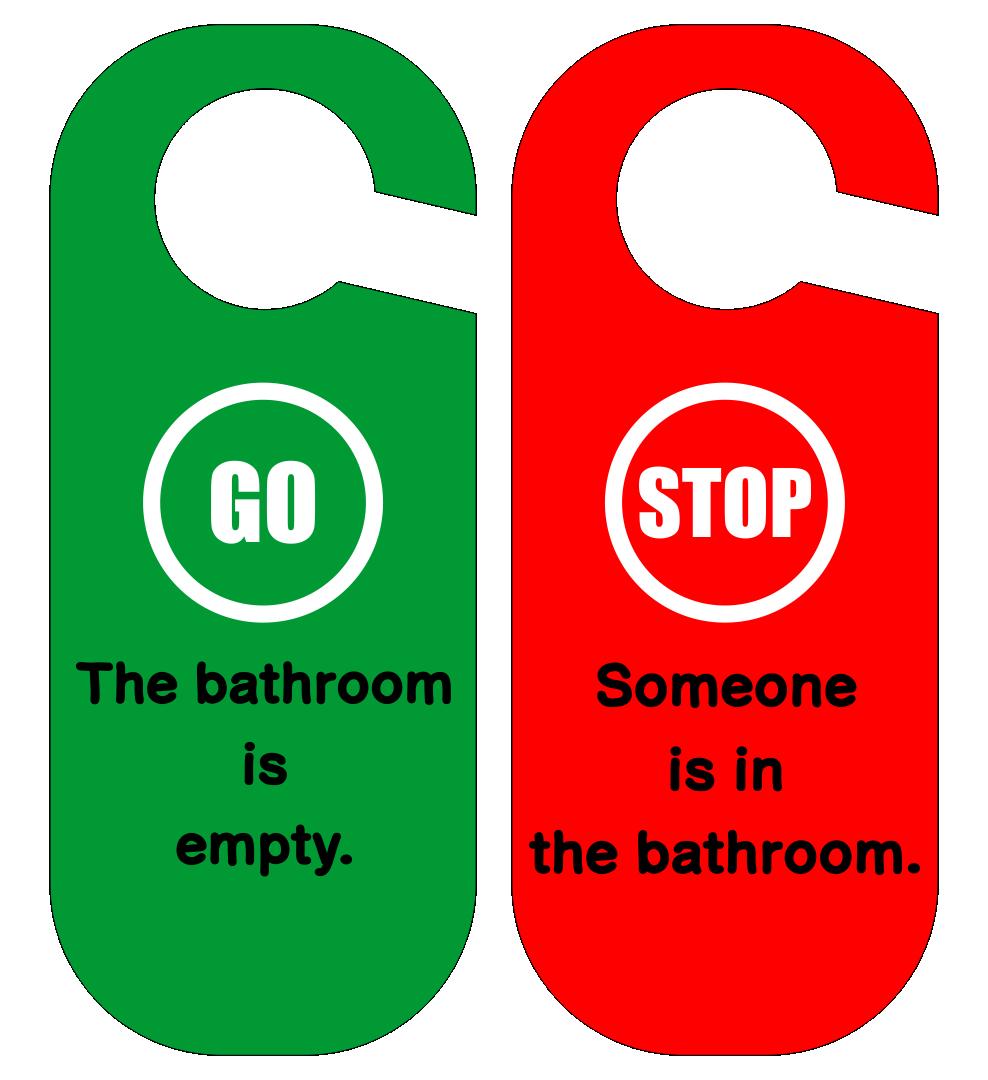Printable Bathroom Occupied Sign
