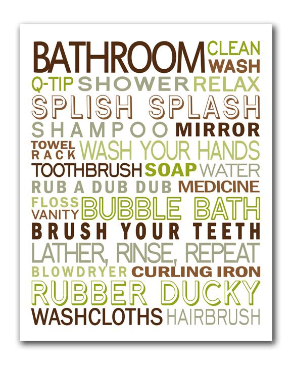 7 Images of Printable Bathroom Art