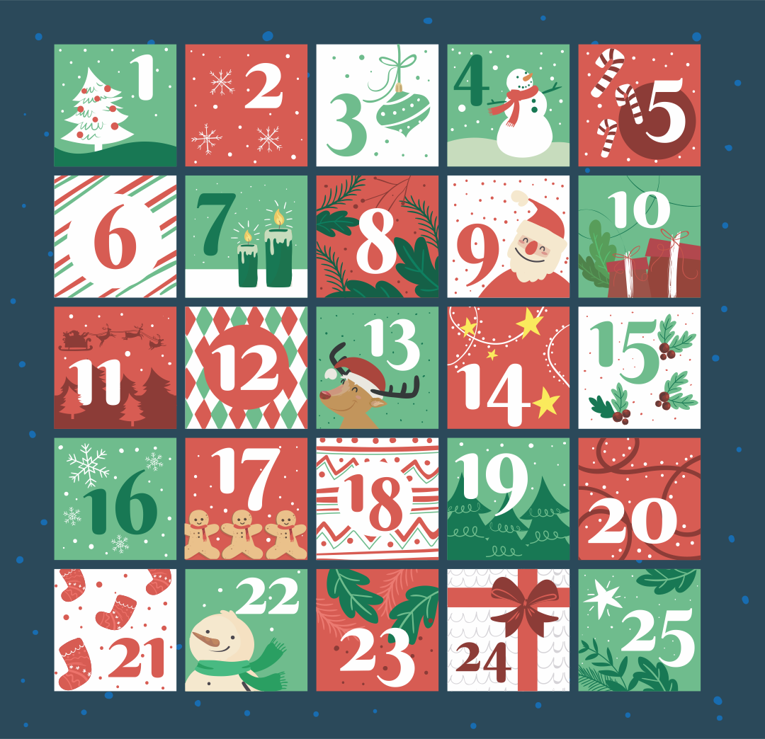 6 Images of Christmas Countdown Number Printables