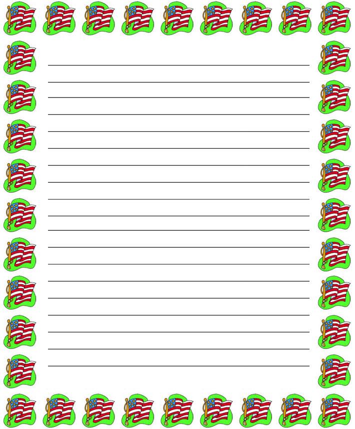 Printable Christmas Border Lined Writing Paper