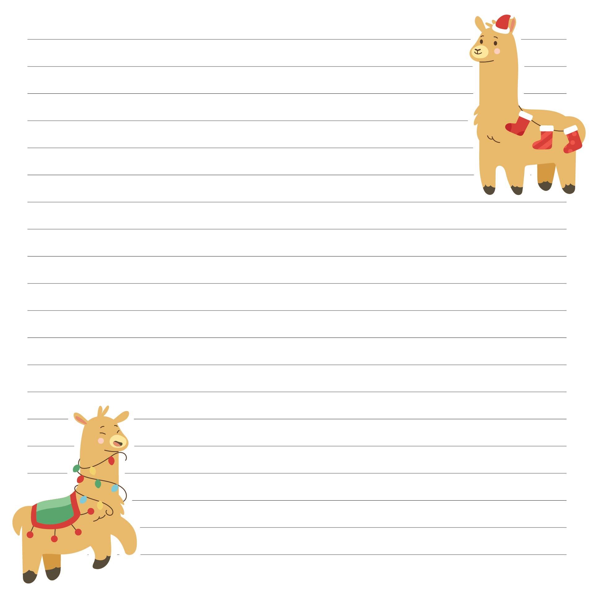 Printable Christmas Writing Paper Kids