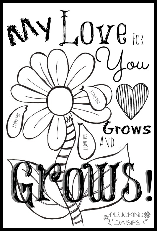 5 best images of printable foldable valentine coloring