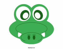 6 Images of Printable Crocodile Mask