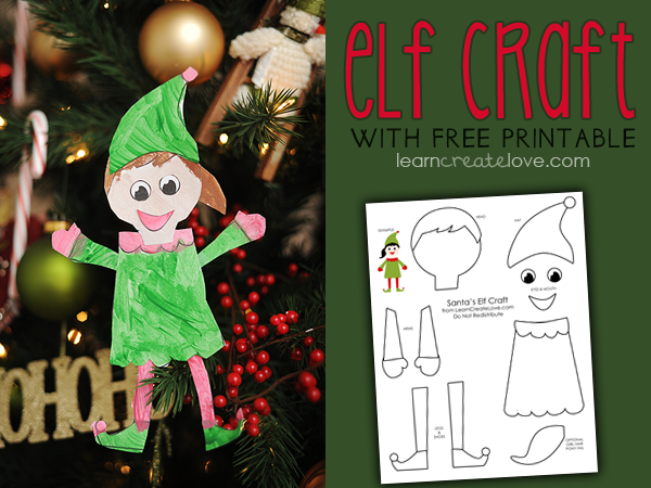 6 Images of Elf Printable Craft