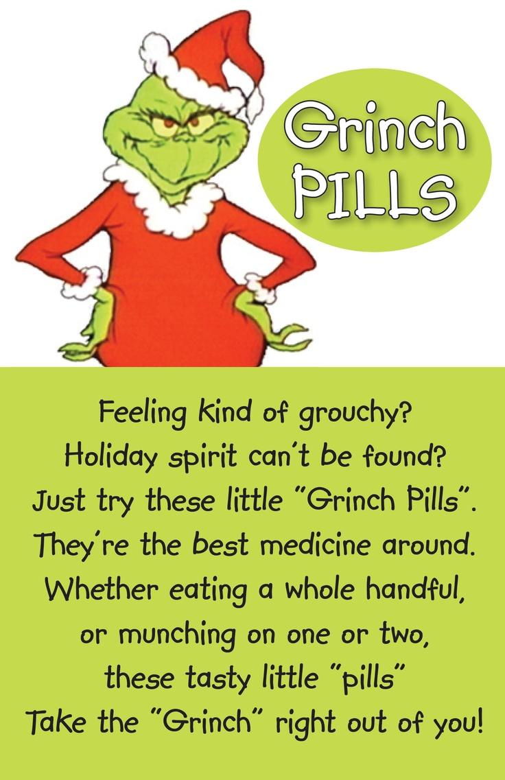 Printable Grinch Pills