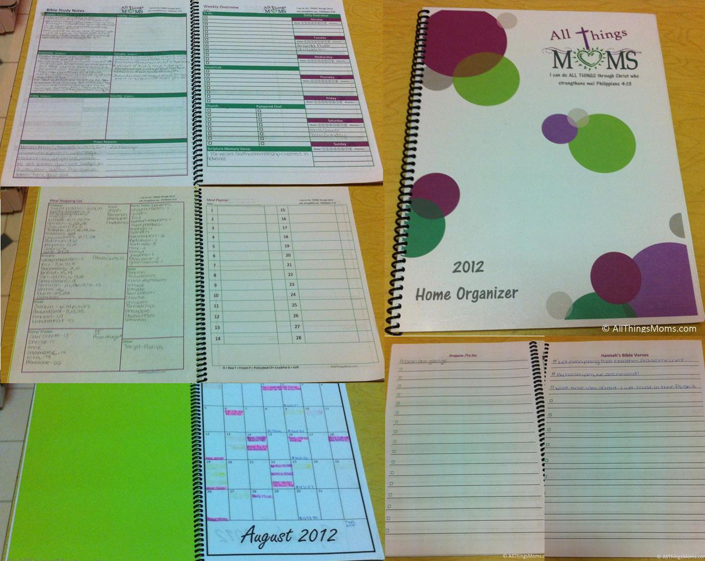 9 Images of Free Household Organizer Printables