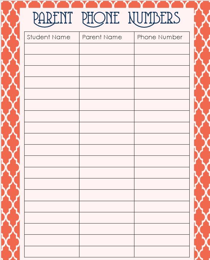 free editable in ms word phone list template use in home binder