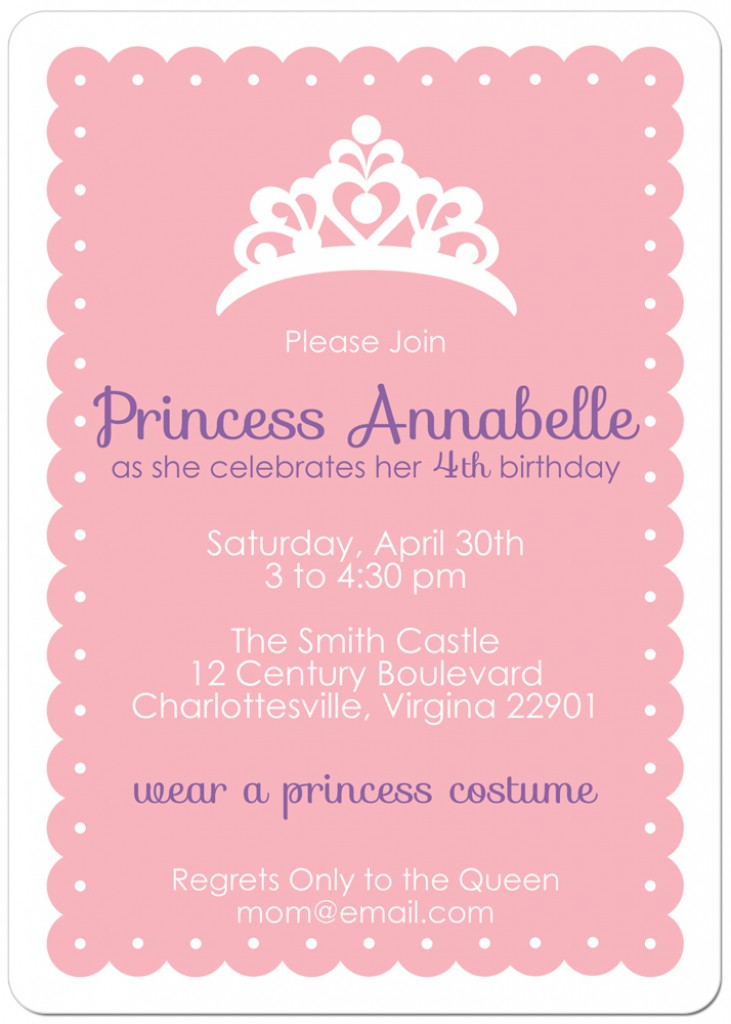 10 best images of free printable princess invitation for Free printable invitation templates