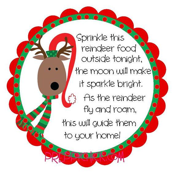 ... Free Printable Reindeer Food Label and Printable Christmas Gift Food