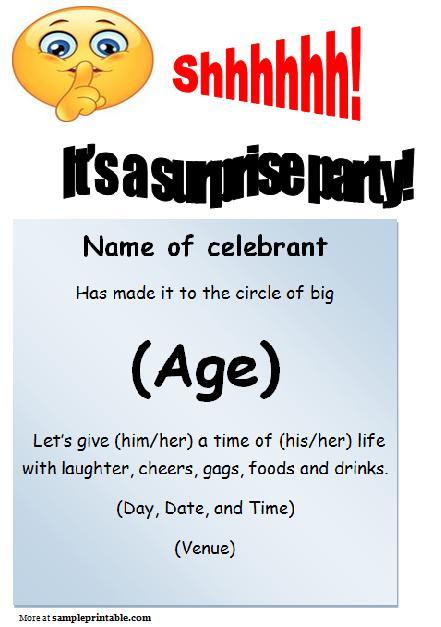 free printable surprise 60th birthday invitations | template