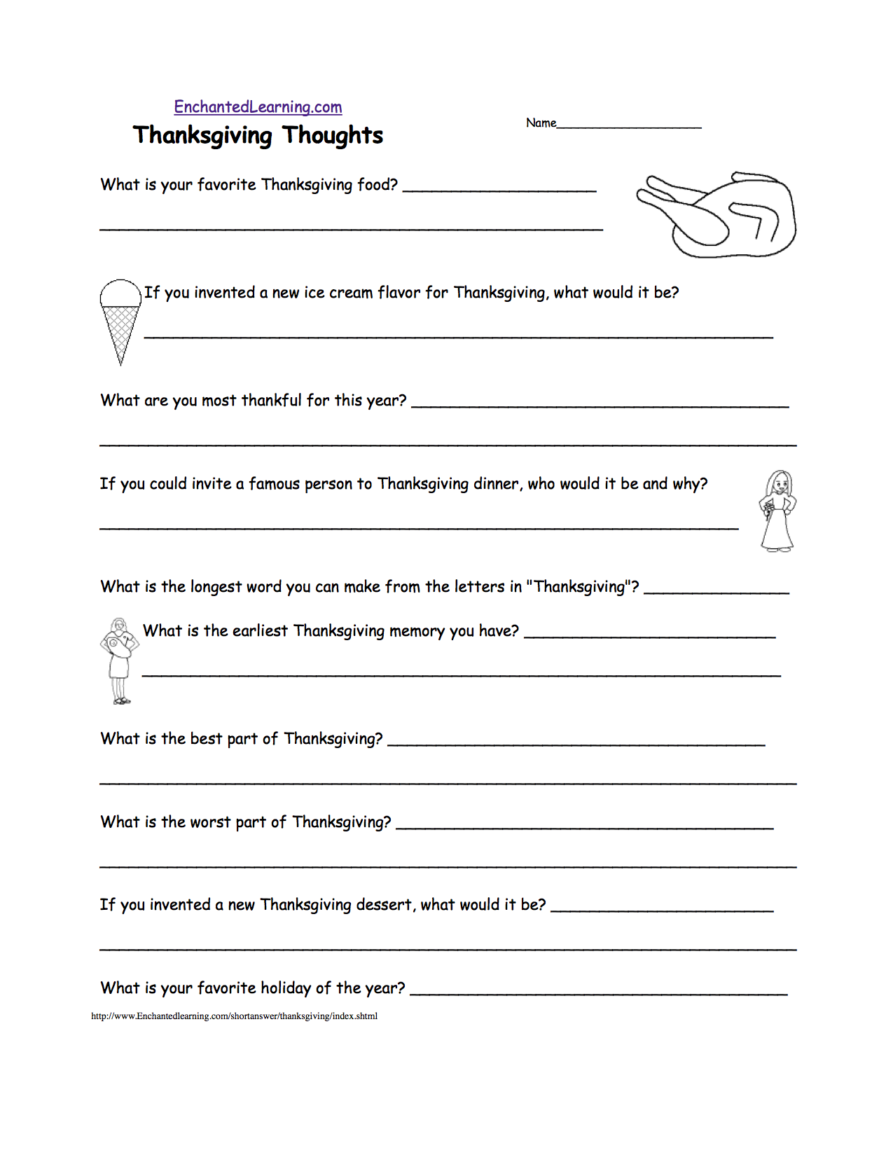 6 Images of Thanksgiving School Printable Papers