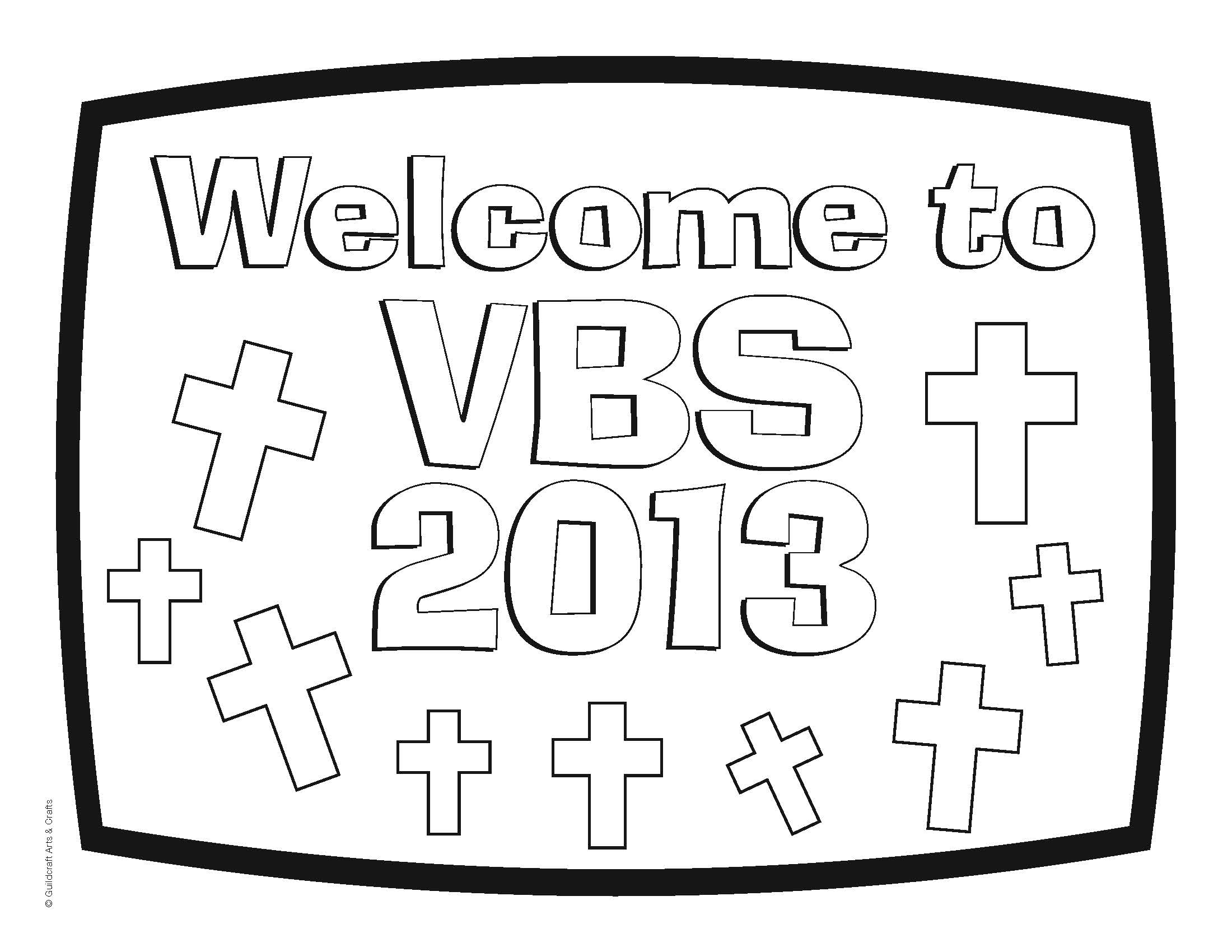 7 Images of Free VBS Coloring Pages Printable