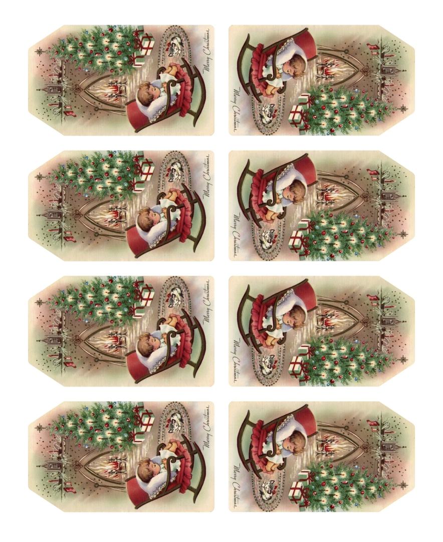 Printable Victorian Christmas Gift Tags