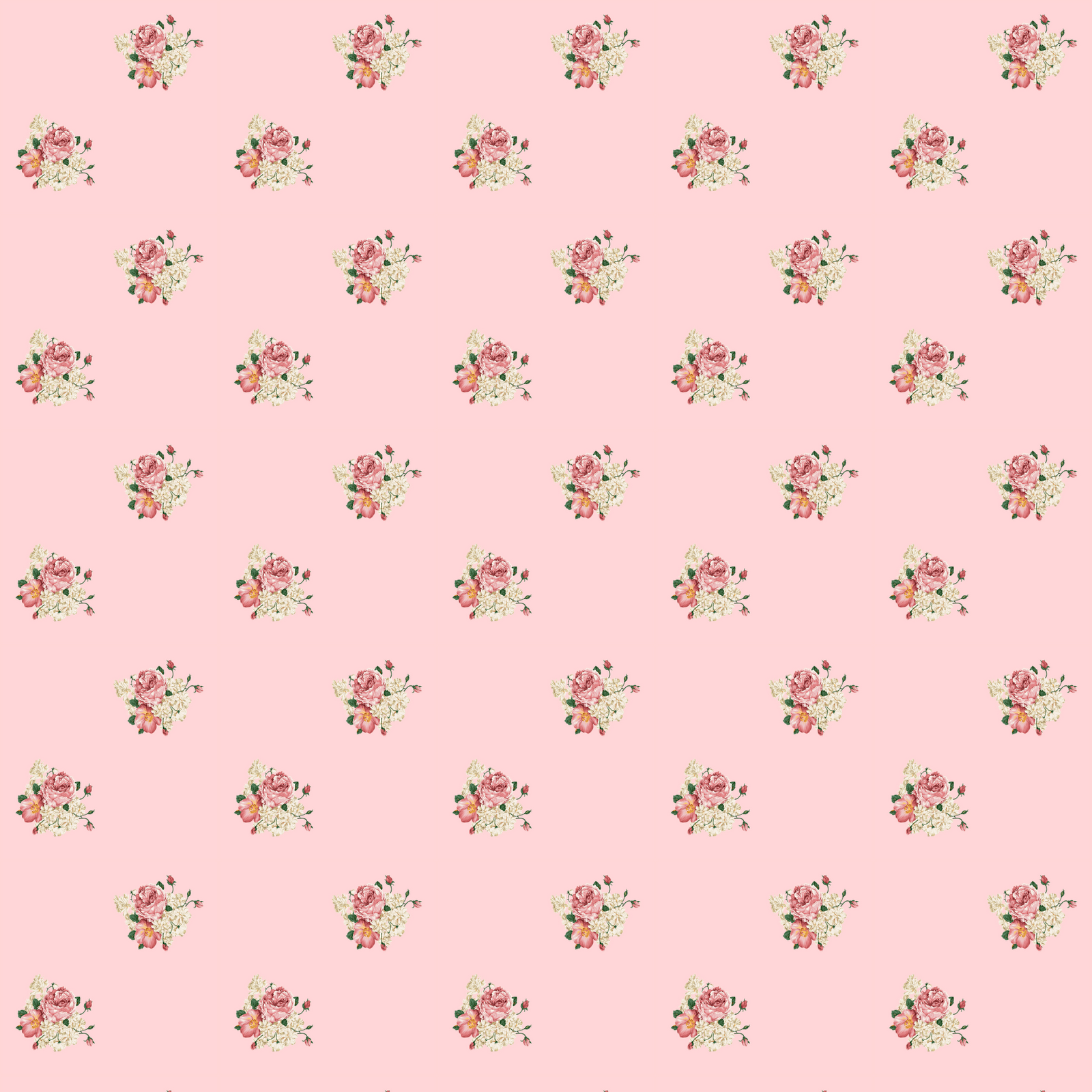 4 Images of Free Printable Flower Scrapbook Paper