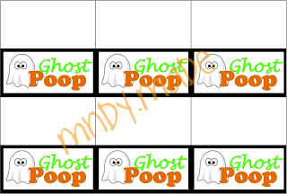 6 Images of Ghost Poop Tag Printable