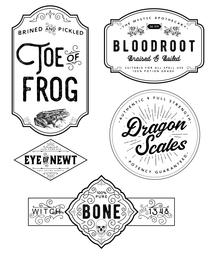 8 Images of Printable Halloween Bottle Potion Labels