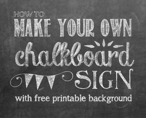 5 Images of Chalkboard Printable Template