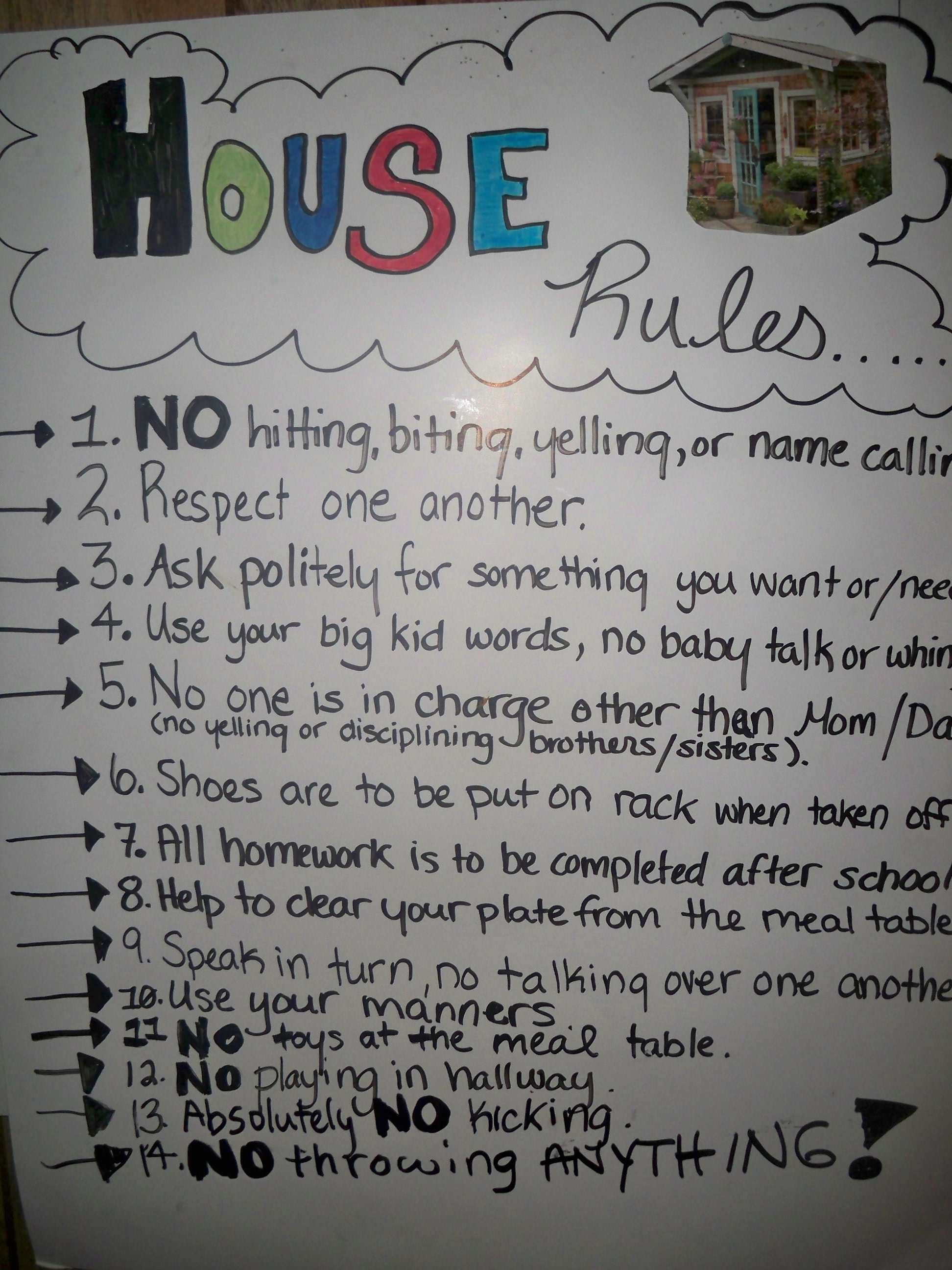 9 best images of printable household rules free
