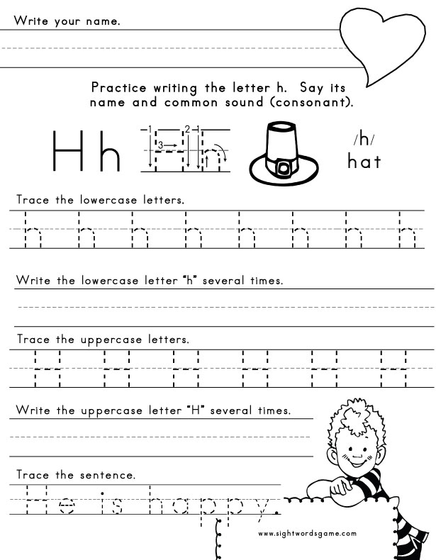 Letter H Worksheets For Preschool - K5 Worksheets