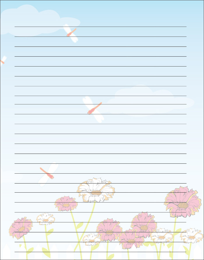 Lined Writing Paper Template