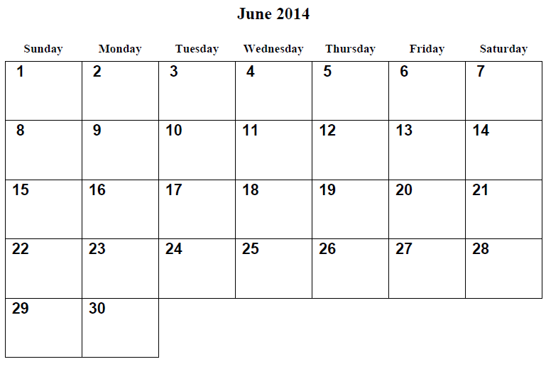 7 Images of Fun Printable June 2014 Calendar