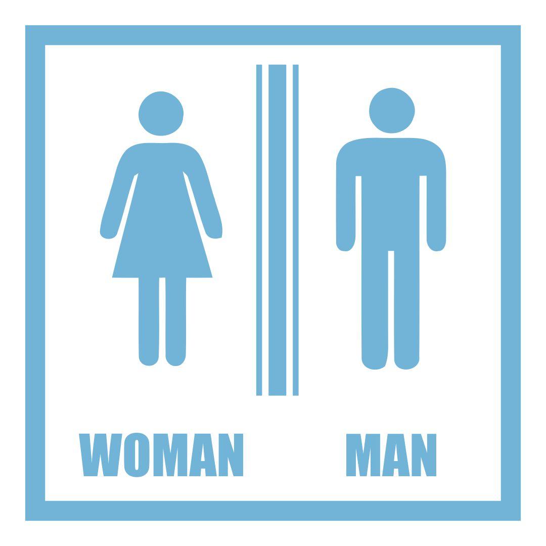 Men and Women Bathroom Signs