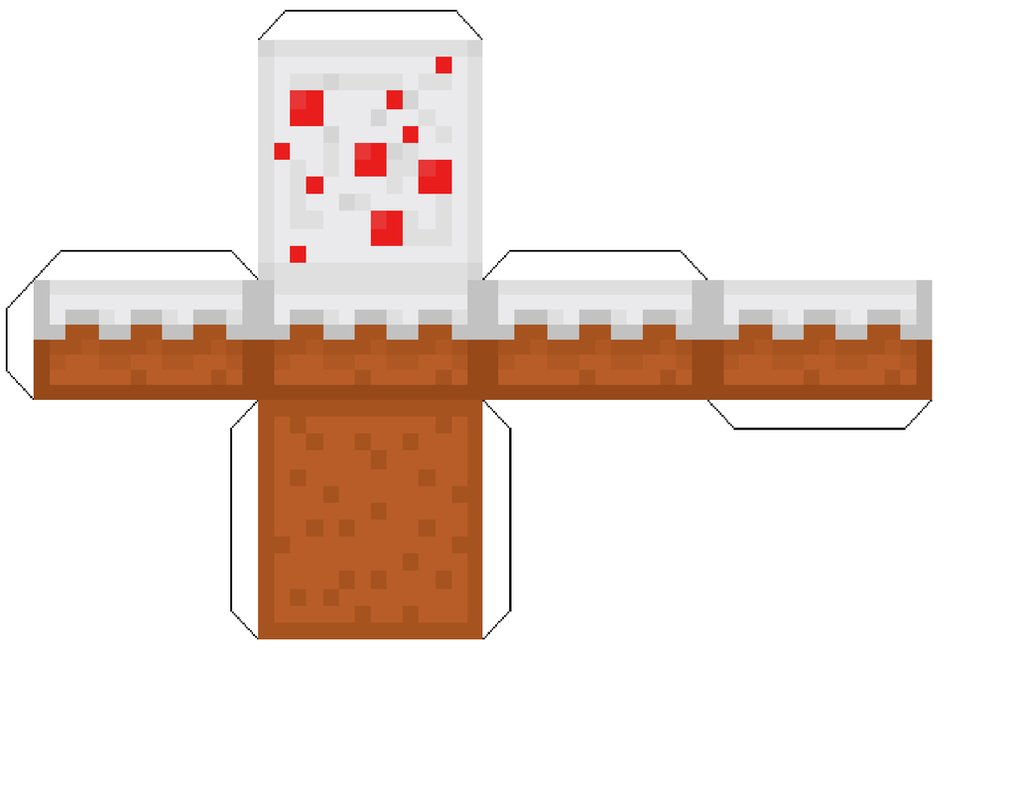 7 Images of Printable Minecraft Cake Block