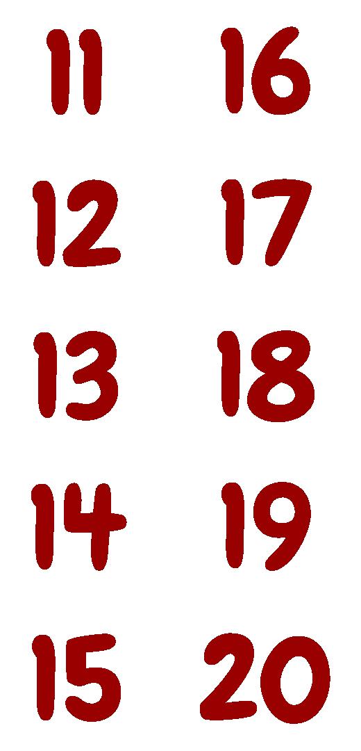 Numbers 11 20 Printables