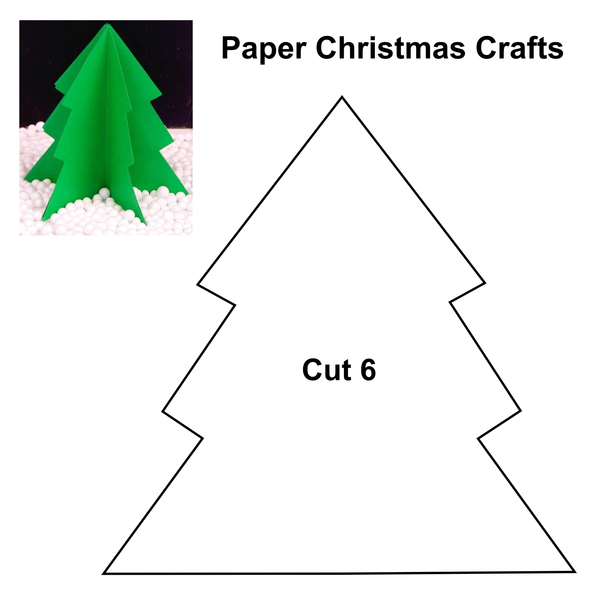 Crafts - Printable 3D Paper Christmas Crafts, Free Printable 3D Paper ...