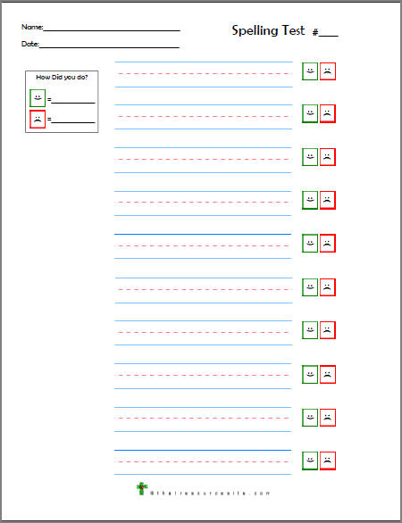 Blank Spelling Worksheets : Number names worksheets spelling sheets free printable