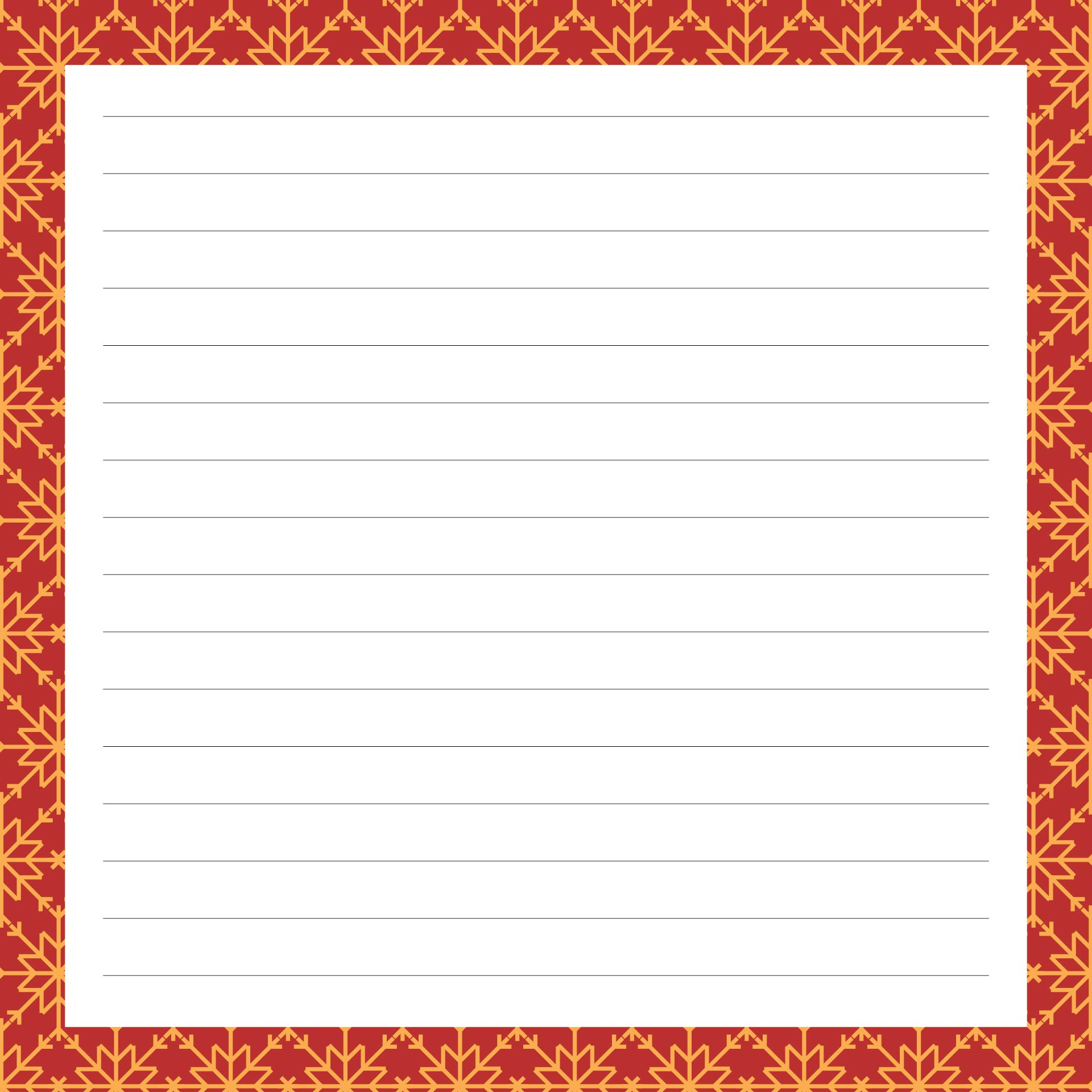 7 Images of Printable Christmas Lined Paper