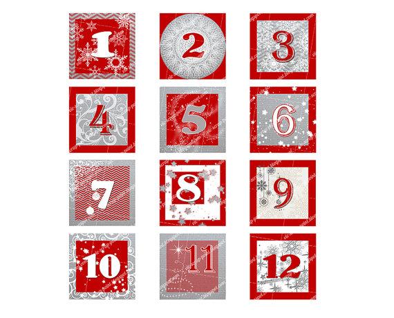 ... Christmas Advent Numbers and Free Printable Christmas Calendar Numbers