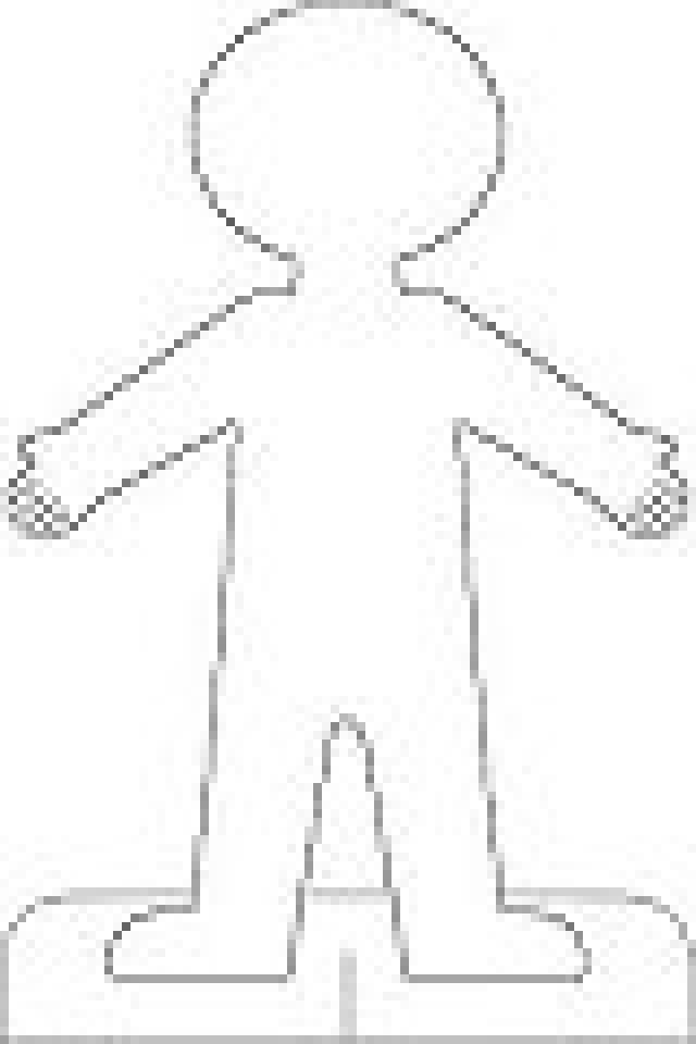 Printable Girl Paper Doll Template
