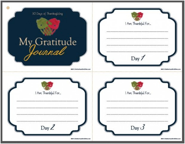 4 Images of Free Printable Gratitude Journal Pages