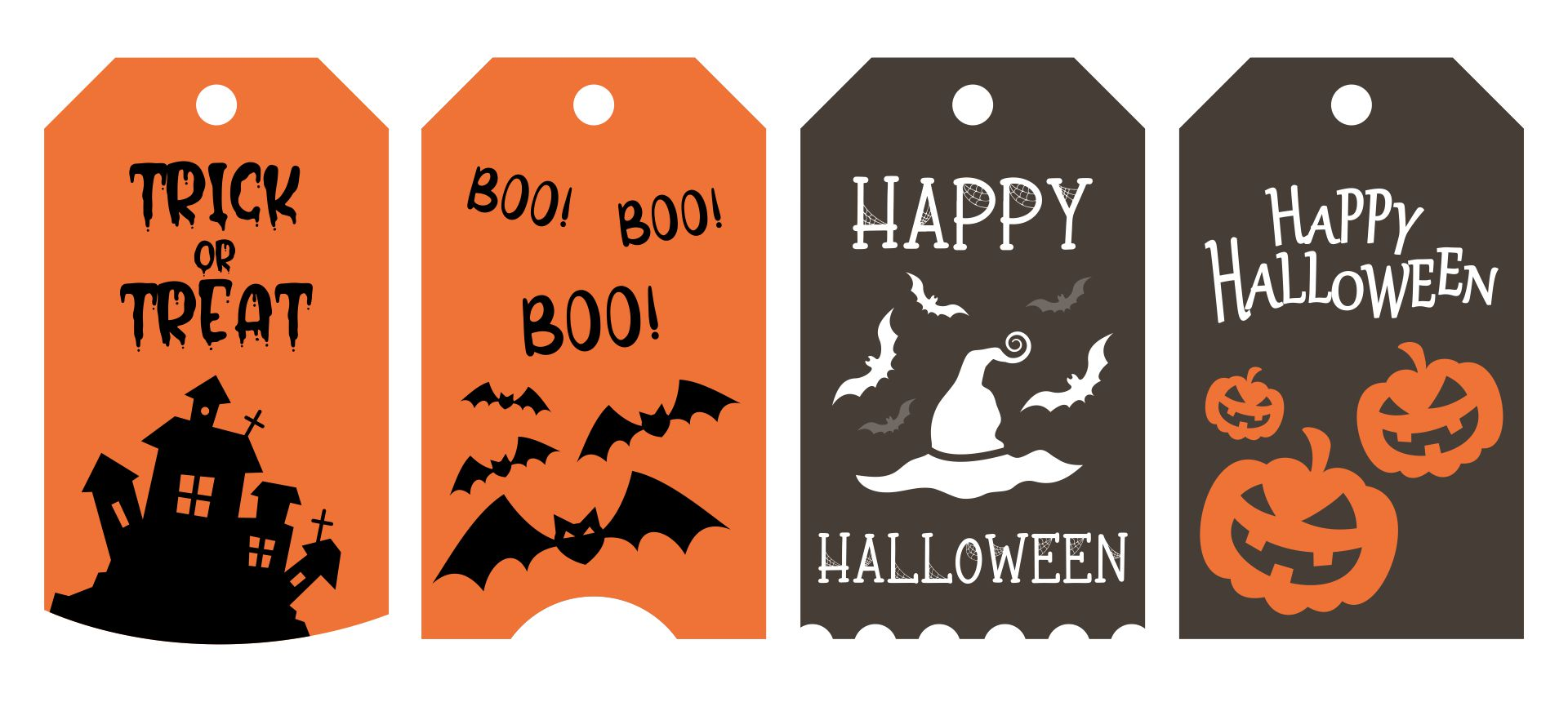7 best images of free printable halloween tags round for Goodie bag tag template