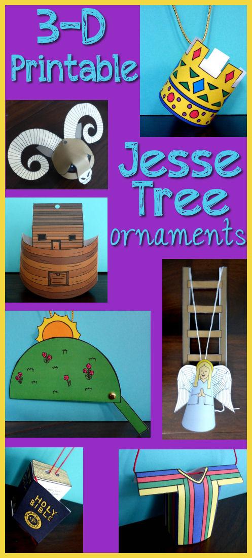 Printable Catholic Jesse Tree Ornaments - Jesse Tree Paper Ornaments ...