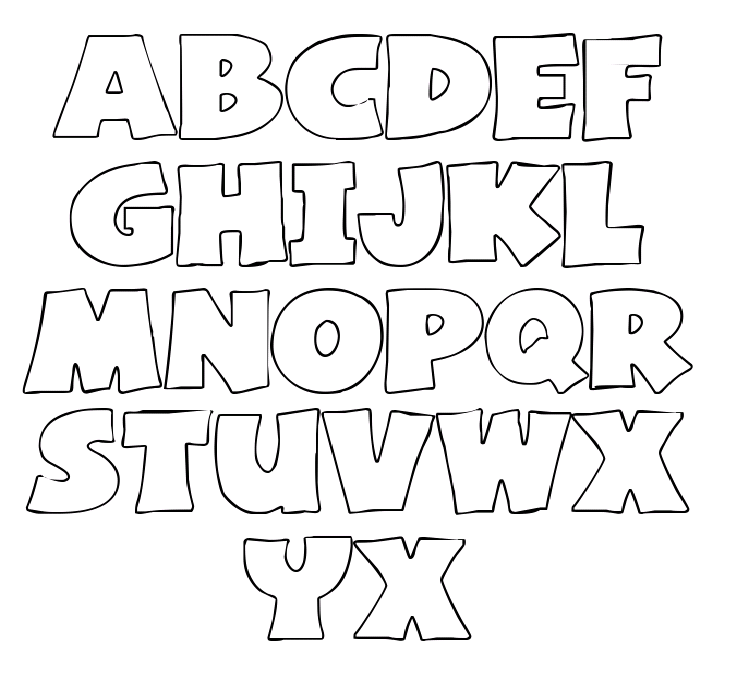 4 Images of Free Printable Alphabet Stencil Cutouts