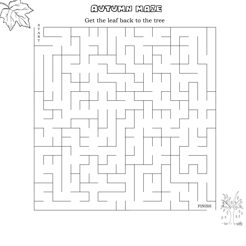 Printable Maze Worksheets