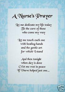 4 Best Images of Printable Nurse Poems - Nurses Prayer ...