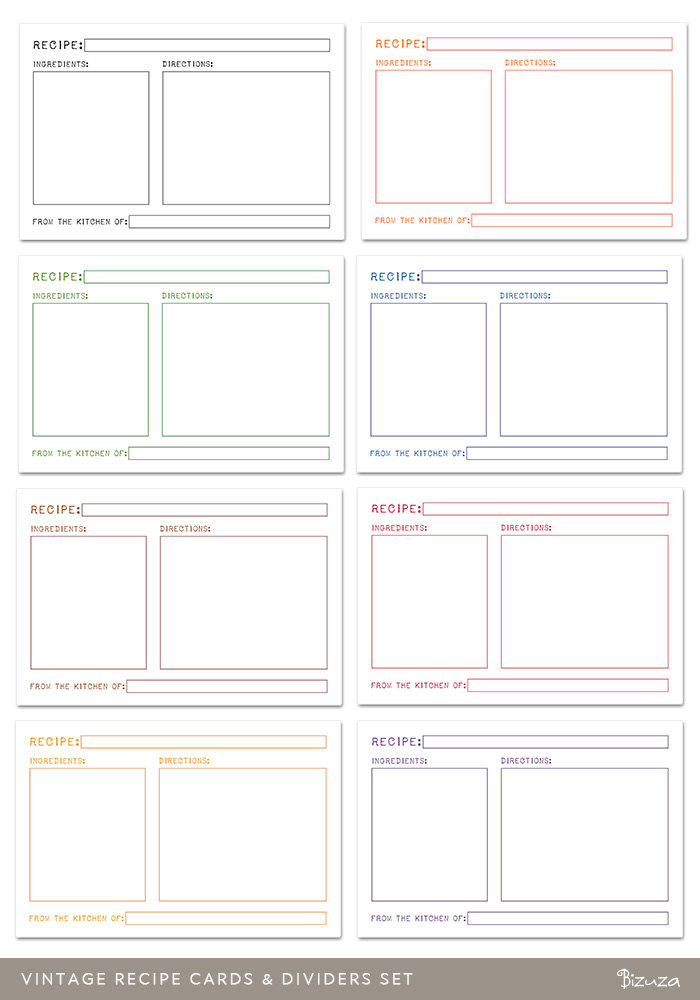 printable recipe card dividers templates 146582 Top Result 60 Luxury 5 X 8 Index Card Template