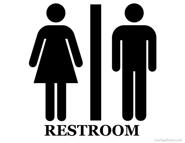 7 best images of bathroom door signs printable men and women bathroom signs free printable for Boy and girl bathroom door signs